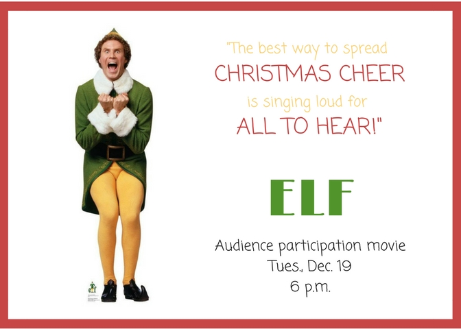 Movies at the Library: ELF! | Calendar | City of Richland WA