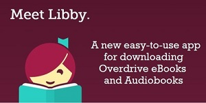 the new libby app logo with a girl reading a book