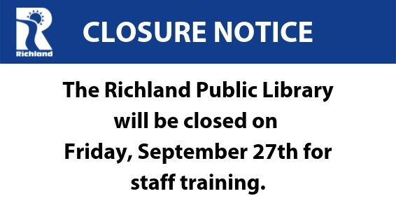 Library closed on September 27th for staff training