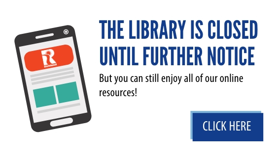 The library is closed until further notice. Click here on online resources